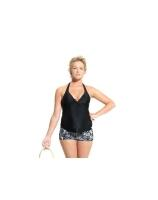 Umstandsbademode noppies Neckholder Tankini Top Saint Tropez for Summer - schwarz