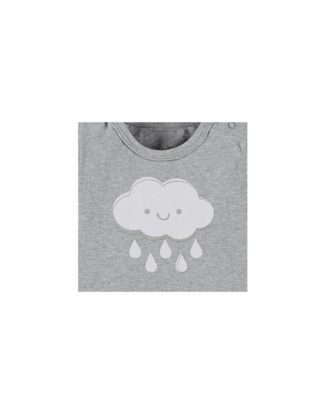 BEES Shirt Shirt Boy or Girl No Unisex Cloud-Grey - grau